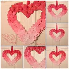 diy valentine s day paper heart chain tutorial here and view in gallery paint heart wreath
