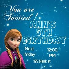 Personalized Frozen Birthday Invitations Invitation Template