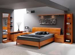 cool bedroom furniture. Mesmerizing Master Bedroom Design With Laminate Teak Furniture In Grey Wall Paint Color: A Cool C