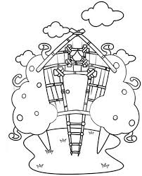 Small Picture Treehouse Drawing Coloring Page Treehouse Drawing Coloring Page