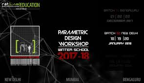 Parametric Design Workshop 2018 Book Rat Lab Edu Winter School 2017 18 Batch B New