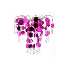 chic retro hot pink chandelier view larger