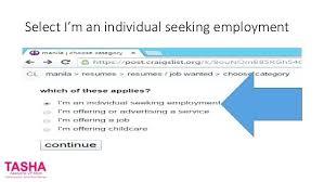 Craigslist Resumes Inspiration 4116 Post Resume On Craigslist Select An Individual Seeking Employment