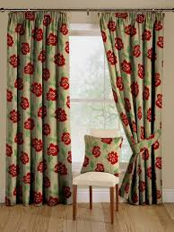 ... Drop Dead Gorgeous Accessories For Window Treatment Decoration Using  Modern Red Curtain : Cool Picture Of ...