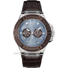 "men s guess rigor watch w0040g10 watch shop comâ""¢ mens guess rigor watch w0040g10"