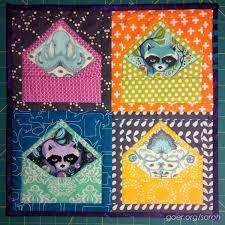 Envelope mini quilt by Sarah | Things I Make. Tula Pink fabrics ... & Envelope mini quilt by Sarah | Things I Make. Tula Pink fabrics. Blogger's  Quilt Adamdwight.com