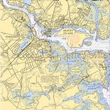 New Hampshire Portsmouth Nautical Chart Decor