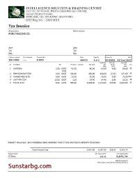 Sample Printable Invoice Unique Tax Invoice Template Word Format In Download Tangledbeard
