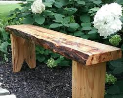 rustic garden furniture. Live Egde Patio/garden Or Entryway Bench Rustic Garden Furniture