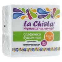 Бумажные салфетки <b>La Chista</b> — купить на Яндекс.Маркете
