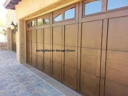 installed 2 18 foot wide by 8 foot tall garage doors with madison arch gl top and walnut 606 stain yelp
