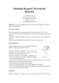 Resume Format For Desktop Support Engineer Desktop Support Specialist Resume Sample Technical Support Resume