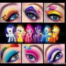 mylittlepony makeup applejack twilightsparkle fluttershy rainbowdash pinkiepie rarity