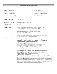 Resume Objective For Government Job
