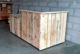 rustic yet modern pallet bar