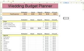 Template Destination Wedding Budget Template Planner Worksheet