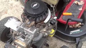 Fixing the starting problem on the Briggs and Stratton 21hp engine ...