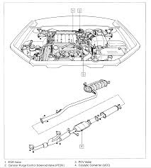 I'm looking for the location of the pcv for a 2005 kia amanti all the engine diagrams i've seen for the sigma engine