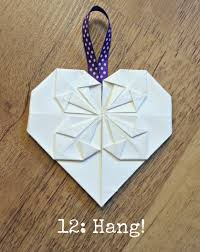 Diy Tutorial Origami Heart Decorations Place Cards