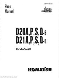 komatsu d20 d21 d31 d37 chassis only service manual repair komatsu d20 d21 d31 d37 chassis only service manual