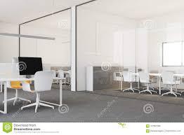 office corner. White Modern Open Space Office Corner