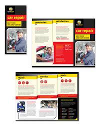Auto Repair Flyer Auto Repair Services Tri Fold Brochure Template