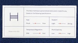 helix mattress logo. helix sleep innerspring mattress customization tag logo