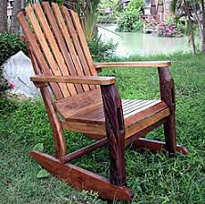 rustic wooden rocking chairs. Contemporary Wooden Groovystuff  Adirondack Rustic Teak Rocking Chair Quick View Intended Wooden Chairs
