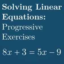 solving linear equations progressive