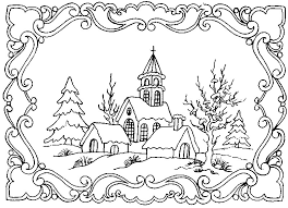 Small Picture winter scene coloring pages for adults Google Search Christmas