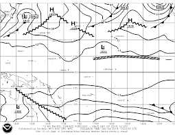 Surface Analysis Chart Noaa Weather Forecasts For Cruising In And Around French