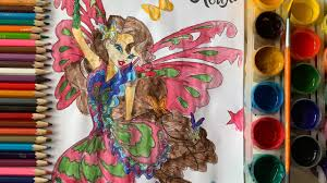 Vẽ tranh tô màu công chúa phép thuật xinh đẹp Layla.Раскраска принцессами  Лейла.Winx club Layla - Dạy vẽ và tô màu tranh xinh nhất - Kho gấu bông giá  rẻ nhất Việt