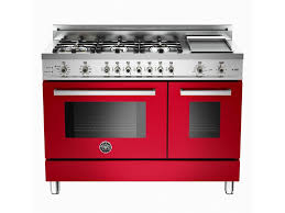 6 burner stove with double oven. Beautiful Burner Bertazzoni 48 6Burner  Griddle Electric SelfClean Double Oven Red In 6 Burner Stove With
