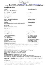 Resume & Imdb | Nara R – Video Editor