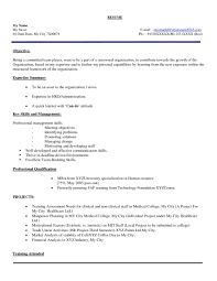 Cover Lettera Freshers Resume Format Fresher Hr Pdf For Generalist