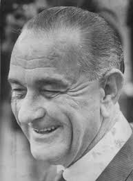 Bethesda, MD: A smiling president Lyndon Johnson leaves the Bethesda Naval Hospital here 11/19/1966. The Chief Executive is flying to his Texas ranch to ... -