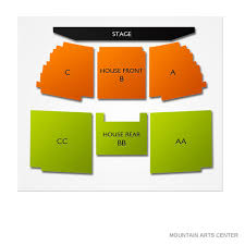 Mountain Arts Center 2019 Seating Chart