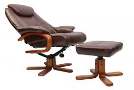 fully recline gfa macau leather swivel recliner chair footstool