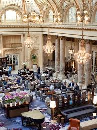 october 5 2016 san francisco california people brunching in the garden court dining room at the palace hotel stock photo offset
