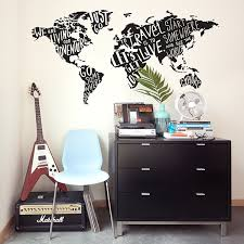 my type of world jumbo map wall decals paper riot home wall decals my type