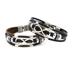 multilayer infinity knot bracelet casual fashion leather bracelets for men women cod