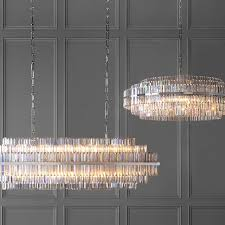 vienna 48 round crystal chandelier polished nickel williams sonoma intended for inspirations 2