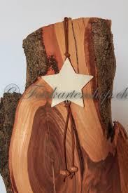Fotokarte Weihnachtsstern Aus Holz