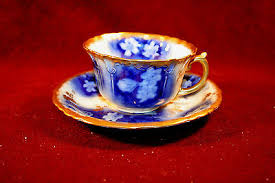 Decorating With Teacups And Saucers Awesome Flow Blue Cup Saucer Fabulous Gold Floral Decoration 59