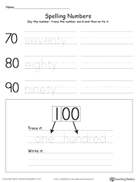 Writing Number Words Worksheets Kindergarten Tracing And By Tens For ...