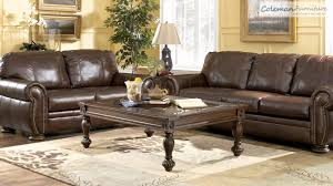 Walnut Living Room Furniture Palmer Walnut Living Room Furniture From Millennium By Ashley