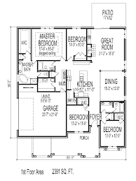 2400 craftsman house floor plans square foot 4 bedroom 1 story simple ranch