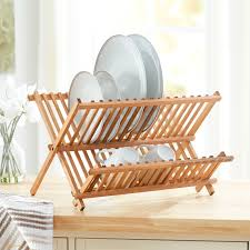 wooden drying rack kitchen designs