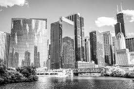 famous architectural buildings black and white. Famous Architectural Buildings Black And White Northwest Chicago Loop Photo | Buy C