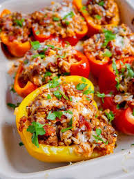 hot italian sausage stuffed peppers